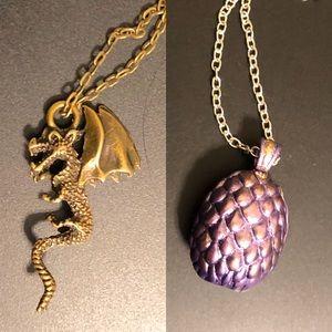 Jewelry - 2 necklaces khaleesi game of thrones dragon egg